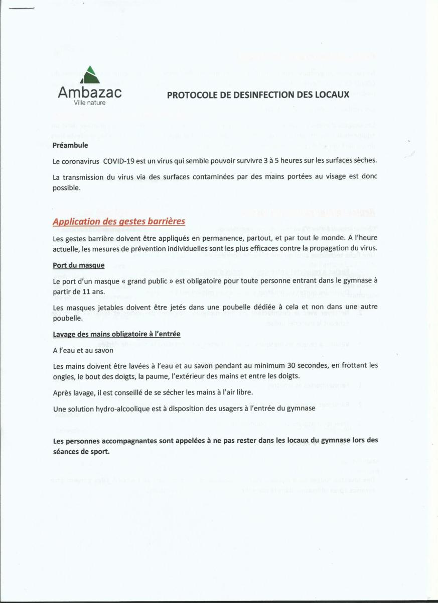 Protocole Mairie d'Ambazac P.1